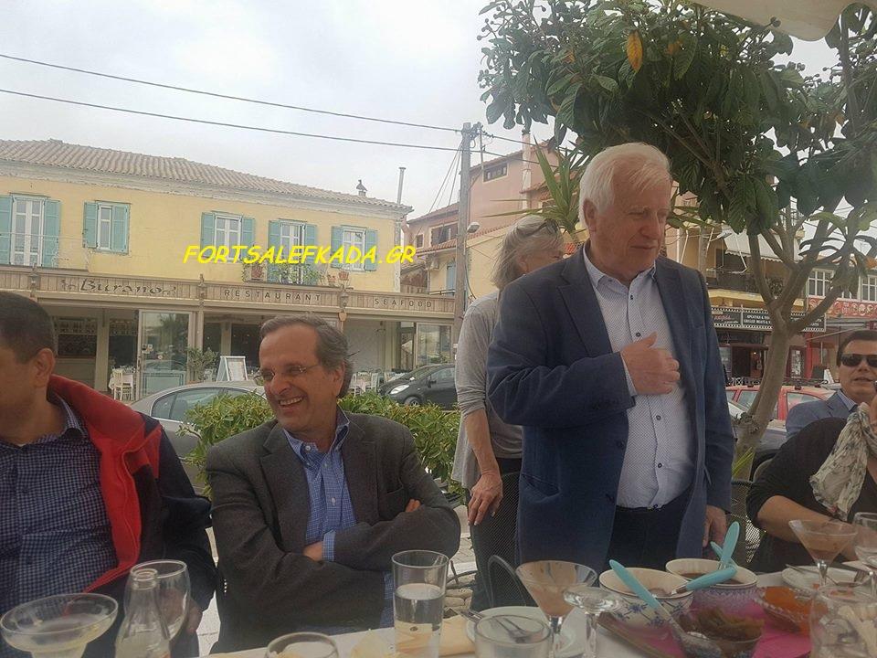 Στην Λευκάδα με φίλους βρίσκεται ο Αντώνης Σαμαράς