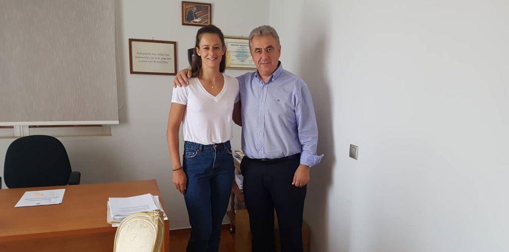 Συνάντηση του βουλευτή με την Κορίνα Πολίτη