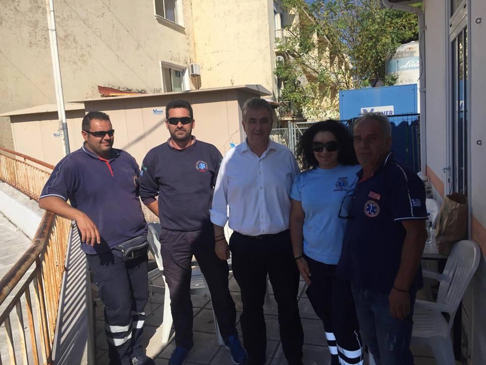 Επίσκεψη του βουλευτή στο Νοσοκομείο Λευκάδας
