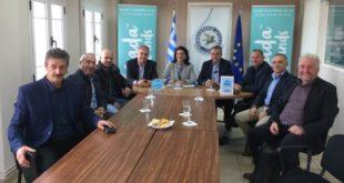 Συνάντηση Ρόδης Κράτσα με τις θεσμικές αρχές