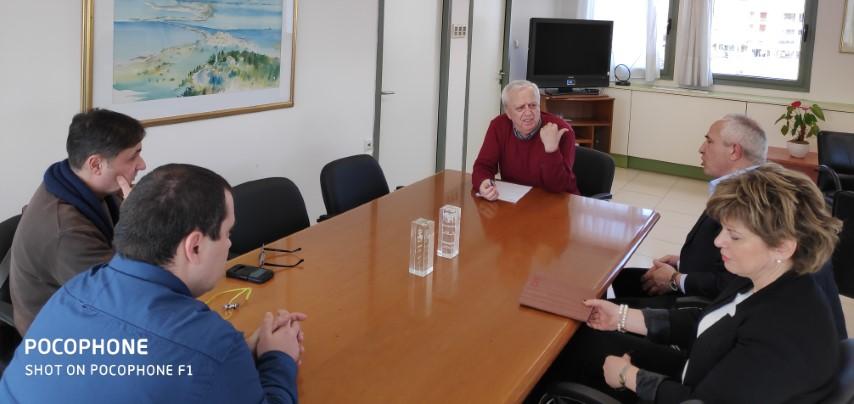 Συνάντηση Αντιπεριφερειάρχη με Πρύτανη Ιονίου Παν/μιου