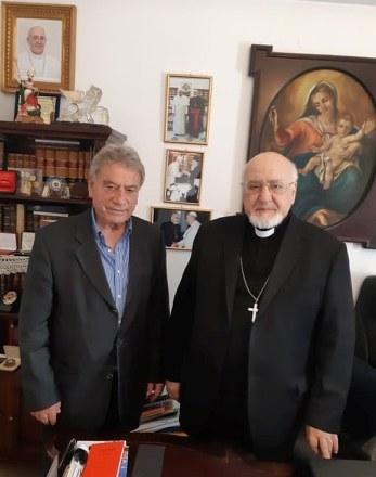 Συνάντηση Σ. Σπύρου με τον Αρχιεπίσκοπο Καθολικών Ι.Ν.