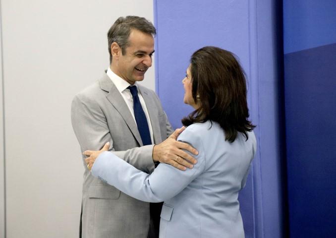 Συνάντηση της κας Ρόδης Κράτσα με τον πρόεδρο της Ν.Δ.