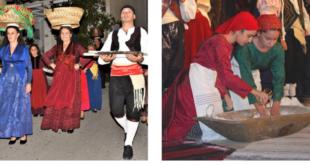 Αναπαράσταση του χωριάτικου γάμου στην Καρυά