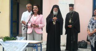 Η Περιφερειάρχης Ρόδη Κράτσα στον Αγιασμό σχολείων