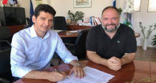 Υπογραφή εργολαβίας για ανακαίνιση οικίας Ζαμπελίων