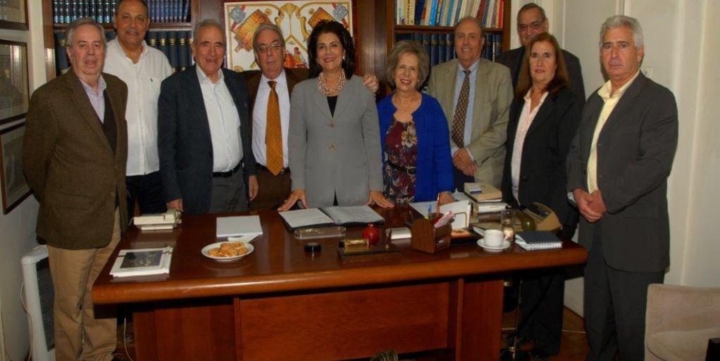 Συνάντηση Ρ. Κράτσα με το Δ Σ της Επτανησιακής Συνομοσπονδίας