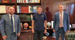 Συνάντηση Α. Κτενά και Ι. Αρμενιάκου με Υφ/γό Αθλητισμού