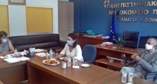 Επίσκεψη Περιφερειάρχη στο Νοσοκομείο του Ρίου