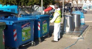 Απολύμανση εξοπλισμού καθαριότητας