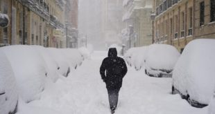 Ο χιονιάς χτυπά την Ισπανία και απειλεί την Ευρώπη