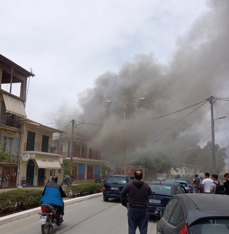 Φωτιά σε σπίτι στην Λευκάδα