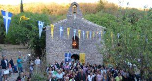 Γιορτάζει η Ιερά Μονή του Αγίου Ιωάννη στο Λιβάδι Καρυάς