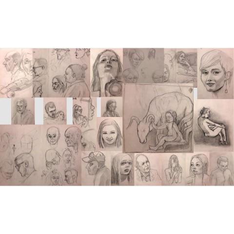 Έκθεση σκίτσων & ζωγραφικής Πέτρου Βρακατσέλη στο Νιοχώρι