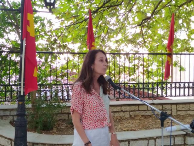 Από την επίσκεψη της Αλεξάνδρα Μπαλού στη Λευκάδα