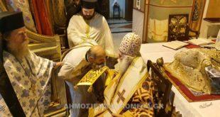 Χειροτονία του ιερέα Πάνου Γαζή από τον Πατριάρχη Αλεξανδρείας